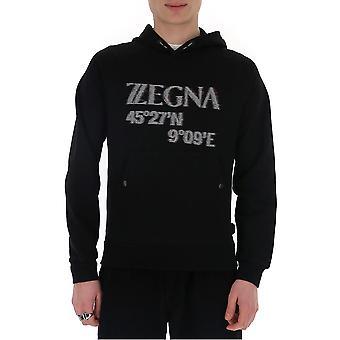 Z Zegna Vu458zz862o7o1 Men's Black Cotton Sweatshirt