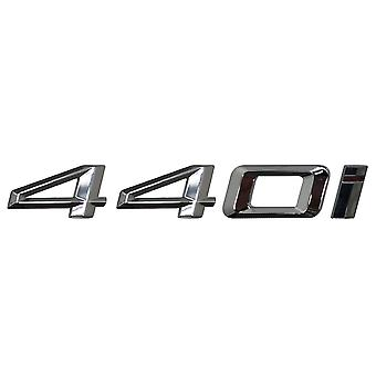 Silver Chrome BMW 440i Car Model Rear Boot Number Letter Sticker Decal Badge Emblem For 4 Series F32 F33 F36 G22 G23 G26