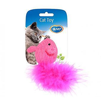 Duvo + katten leketøy mus med Lana 10 x 6 x 4 Cm (katter, leker, mus)