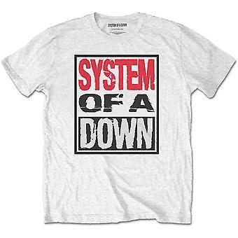 System af en Down Logo Box Officielle Tee T-shirt Herre Unisex