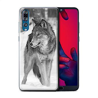 STUFF4 Case/Cover for Huawei P20 Pro/Wolf/Mono Zoo Animals
