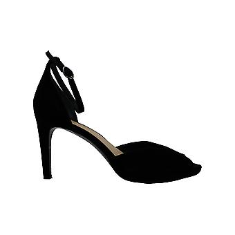 Alfani Womens Peonyy Suede Peep Toe Ankle Strap D-orsay Pumps
