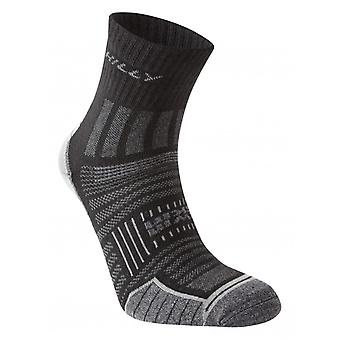 Hilly Twin Skin Anklet Running Socks | Black|Grey Marl