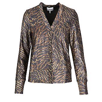 Ganni T2309986 Femmes-apos;s Pull en polyester brun/noir