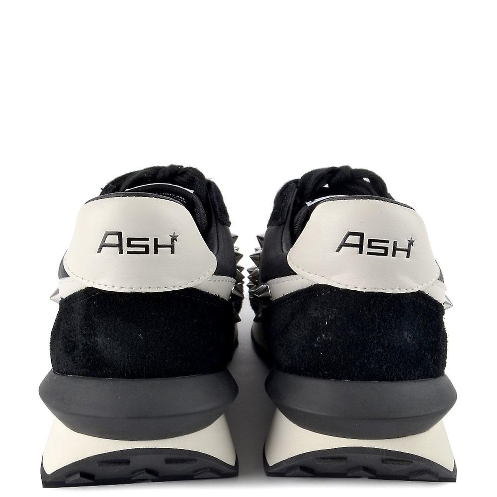 Ash Spider Studs Eco Trainers Black Suede