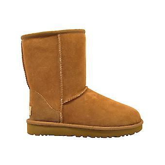 Ugg Classicshortiiche Women's Brown Suede Ankel Støvler