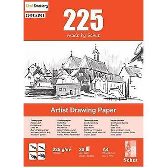 Schut Artist Drawing Paper 225 gram A4 bloc a 30 sheets