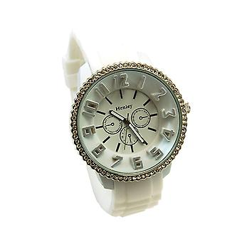 Henley Glamour White Dial Chrono Effect Sports Watch
