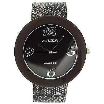 Zaza London Crocodile Effect Brown Pu Strap & Dial Ladies Fashion Watch LLB855