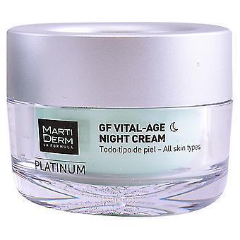 Night Cream Platinum Gf Martiderm (50 ml)
