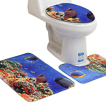 3PC Bathroom Mat non-slip marine style