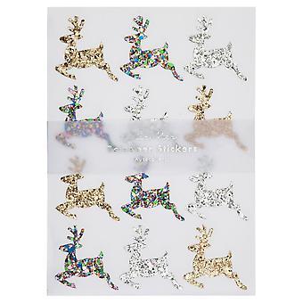 Meri Meri Glitter Reindeer Sticker Sheets x 10 Christmas Craft
