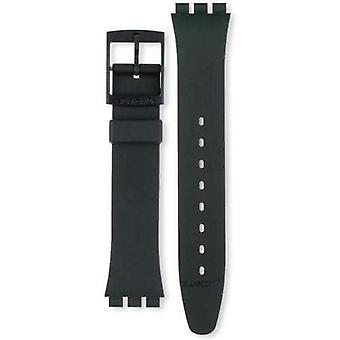 Authentic swatch watch strap classic black strap 17mm