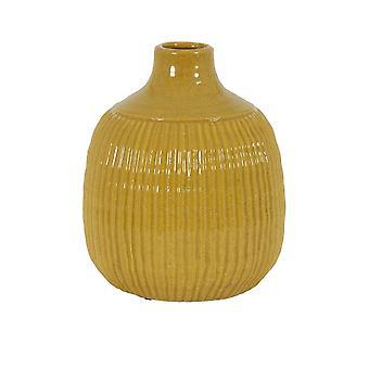 Light & Living Vase Deco 21x26cm Salvada Shiny Ocher