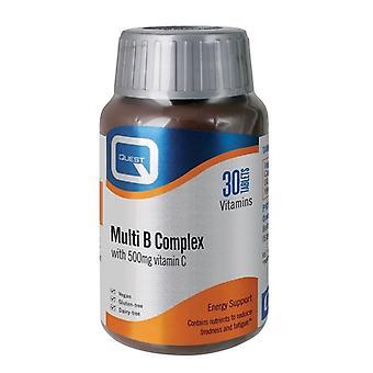 Quest Vitamins Multi B Complex (+ 500mg C) Tabs 30 (601199)