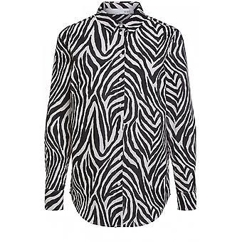 Oui Zebra Print Bluse