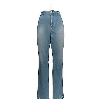 Belle by Kim Gravel Women's Jeans Flexibelle Release Hem Blue A343792
