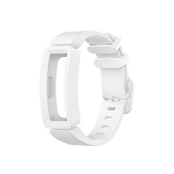Replacement Silicone Band Strap Bracelet for Fitbit Ace 2/Inspire/Inspire HR[White]
