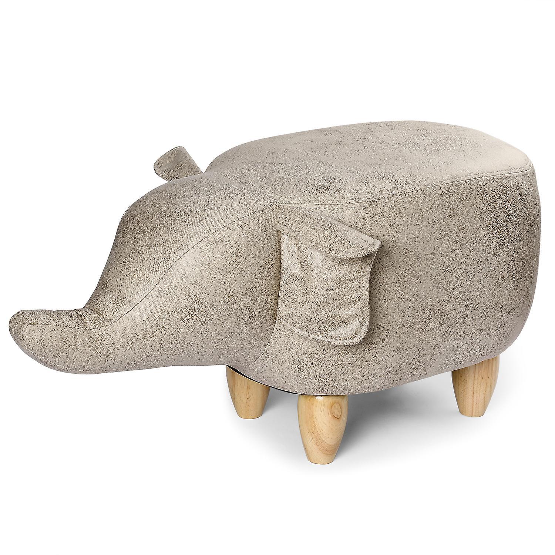 YANGFAN Flying Elephant 4 Wood Legs Ottoman