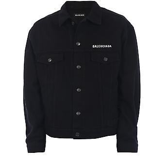 Balenciaga 628701tew351105 Men's Black Cotton Outerwear Jacket
