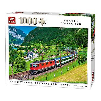 King Travel Collection - Train Tunnel Jigsaw Puzzle (1000 Piece)