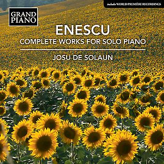 Enescu / Solaun - Enescu / Solaun: Complete Works for Solo Piano [CD] USA import
