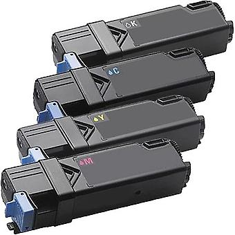 RudyTwos Replacement for Dell DT615 KU051 WM138 PN124 Set Toner Cartridge Black Cyan Magenta & Yellow Compatible with 1320C, 2130CN, 2135CN