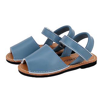 SKEANIE Kids Avarcas Leather Sandals Blue