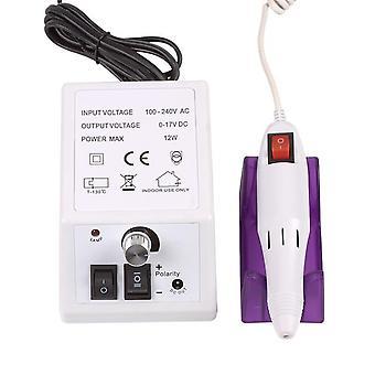 Electric Nail Drill Manicure Set File - Grey Nail Pen Machine Set Kit With EU Plug