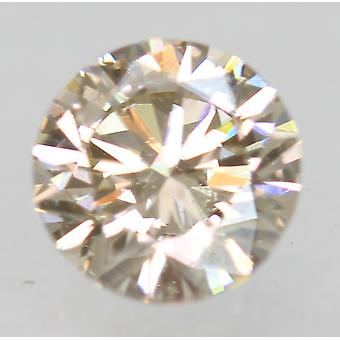 Cert 0.50 Carat Light Brown VVS1 Round Brilliant Natural Loose Diamond 4.9mm