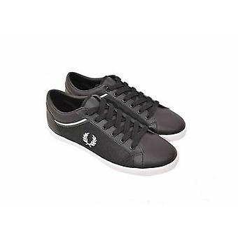 Fred Perry Men's Baseline Tipped Collar Mesh Leather Trainers B5151-102