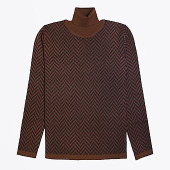 Barena  - Wool Roll-Neck Sweater - Brown