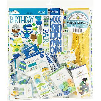 تصميم تصميم حزب وقت عيد ميلاد الصبي حزمة قيمة