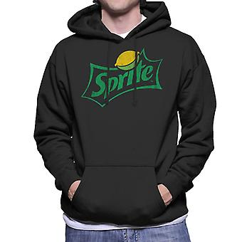 Sprite Distressed Logo Men es Hooded Sweatshirt