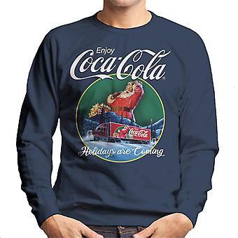 Coca Cola Holidays zijn coming truck mannen ' s Sweatshirt
