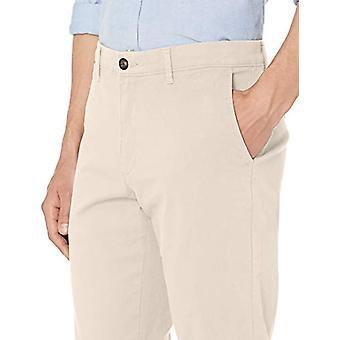 Essentials Uomo's Skinny-Fit Casual Stretch Khaki Pant, Pietra, 40W x 29L