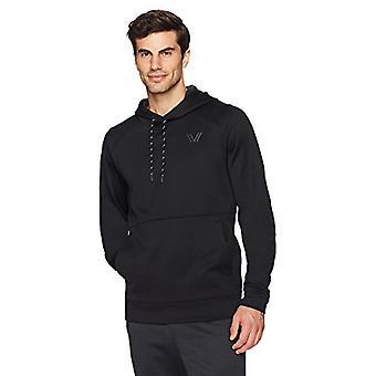 Peak Velocity Men's Quantum Fleece Pull-Over Loose-Fit Hoodie, preto, médio