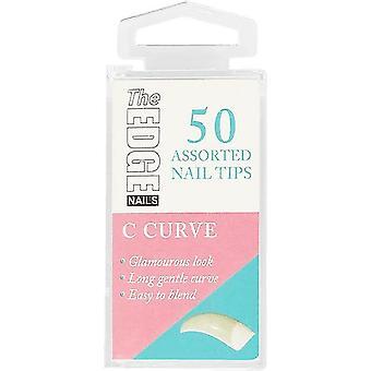 The Edge Nails Valse Nagel Tips - C Curve (Maat 7) (50 nageltips)