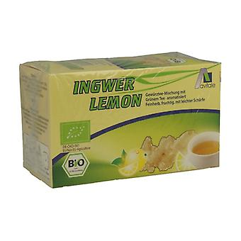 Ginger, lemon and green tea infusion 20 infusion bags of 1.5g