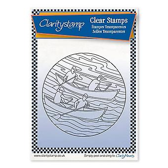 Claritystamp Rowers Round Mask + Fine Line Clear Stamp