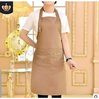 Pure Color Cooking Kitchen Apron For Woman Men Chef Waiter Cafe Shop Bbq