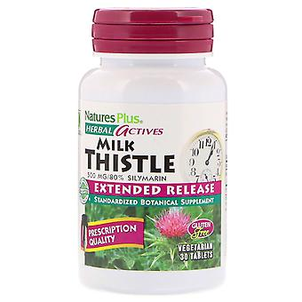 Nature's Plus, Herbal Actives, Milk Thistle, Extended Release, 500 mg, 30 Tablet