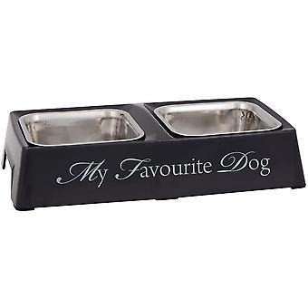 Designed By Lotte Melamine Double Diner My Favourite Dog - Grey