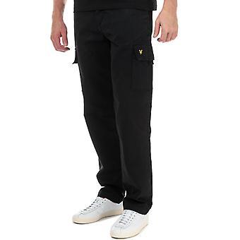 Men's Lyle y Scott Cargo Pantalones en Negro