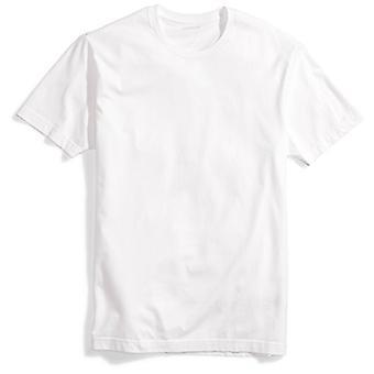 """ブランド - グッドスレッド メンズ""""パーフェクトクルーネックTシャツ""""半袖コットン, ホワイト, 大"""