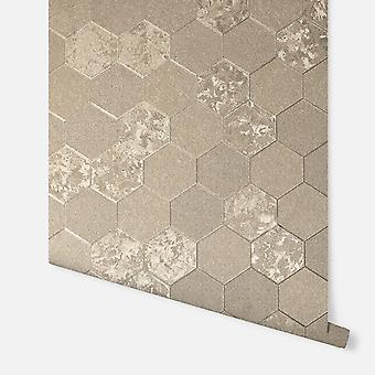 294701 - Folie Waben Champagner - Arthouse Wallpaper