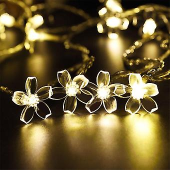 Cherry Blossom Waterproof Led Solar Lights For Garden Christmas Garlands And Decoration