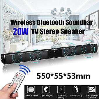 20w Tv Speaker Soundbar Bluetooth Wireless, Home Theater Remote Control