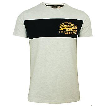 Superdry miehet's vl paneeli kuningatar marl t-paita