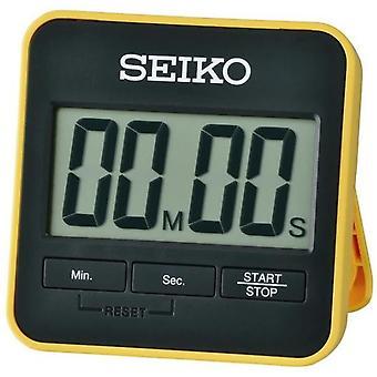 Seiko QHY001Y العد التنازلي الرقمي الموقت وتوقيت صفراء